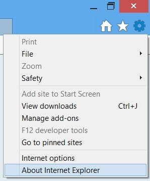Activar, desactivar la actualización automática de Internet Explorer 10 1