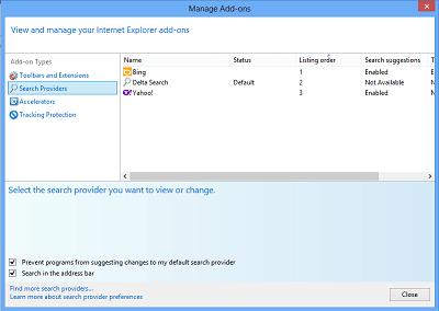 Agregar proveedores de búsqueda a Internet Explorer