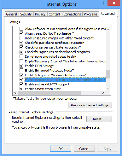 Habilitar o deshabilitar el DEP de Prevención de Ejecución de Datos sólo para Internet Explorer
