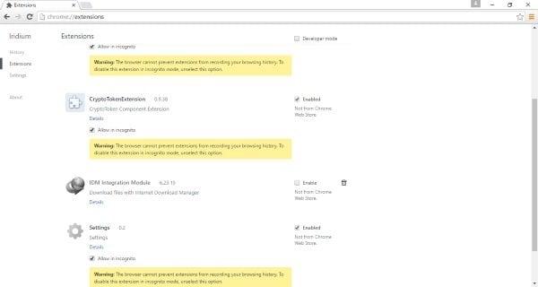 Iridium es un navegador basado en Cromo con fuertes características de privacidad.