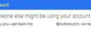 Parece que alguien más podría estar usando tu cuenta: Outlook, SkyDrive, Xbox