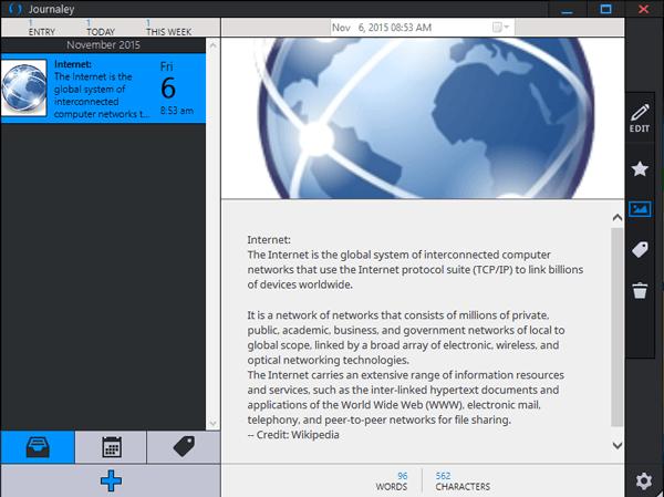 Journaley: Software gratuito de mantenimiento de diarios para PC con Windows