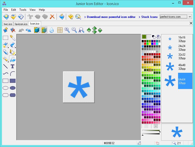 Editor de Iconos Junior: Software gratuito para crear y editar iconos en Windows 10/8/7