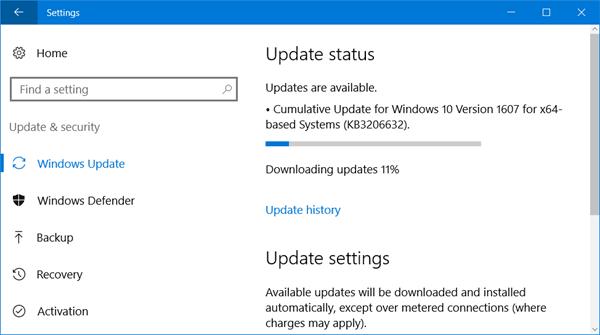 Microsoft lanza KB3206632 para arreglar la conectividad a Internet y otros problemas 1