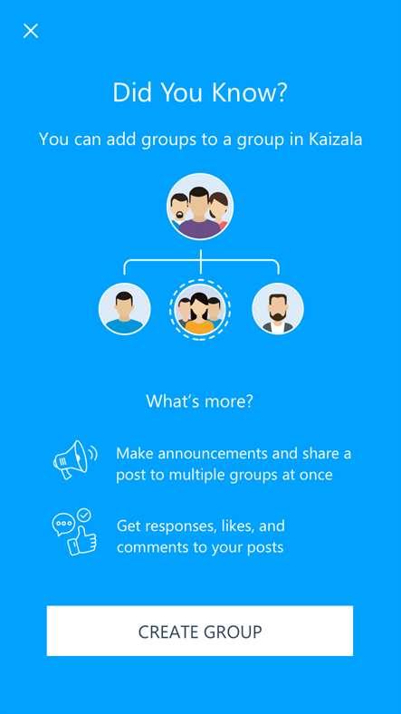 Aplicación de productividad y mensajería Kaizala para Windows de Microsoft Garage 1