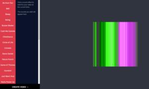 La herramienta Kapwing Meme Maker & Generator también le permite cambiar el tamaño del vídeo y añadir efectos de sonido al vídeo.