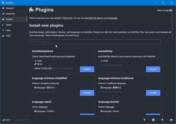 KeeWeb es un software de código abierto para gestionar contraseñas entre plataformas