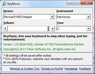 KeyMusic: Cree música mientras escribe en el teclado de su computadora