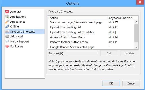 Lista de atajos de teclado de Sticky Notes en Windows 10