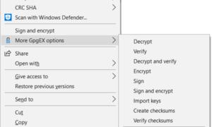 Firmar y cifrar archivos utilizando certificados OpenPGP con Kleopatra