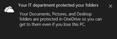 Cómo utilizar la función de desplazamiento de carpetas conocidas en OneDrive 4
