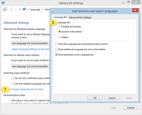 Restaurar: Falta la barra de idioma en Windows 10