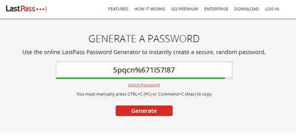 Generador de contraseñas en línea seguro y gratuito para crear contraseñas aleatorias 1