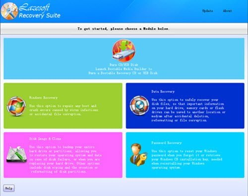 Lazesoft Recovery Suite Free Home Edition para Windows 10/8/7