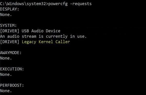 Windows 10 no se pone a dormir - Llamada al kernel anterior