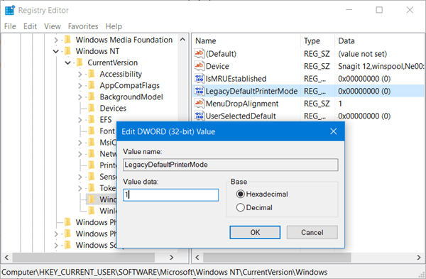 La impresora predeterminada sigue cambiando en Windows 10