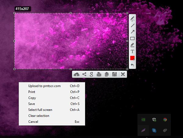 LightShot es un software de captura de pantalla con funciones avanzadas que le permite compartir capturas de pantalla en línea