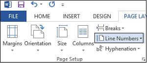 Añadir números de línea en el documento de Word 2013 1
