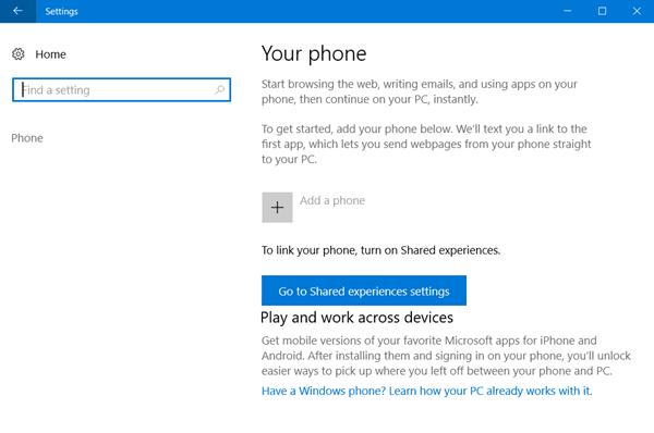 Cómo vincular un teléfono Android o iPhone a un PC con Windows 10 1