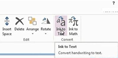 Cómo convertir la escritura a mano a texto en una sola nota