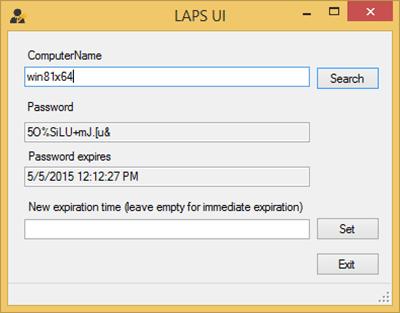 Solución de contraseña de administrador local (LAPS) de Microsoft
