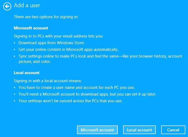 Cómo crear una nueva cuenta de usuario en Windows 10/8.1 9
