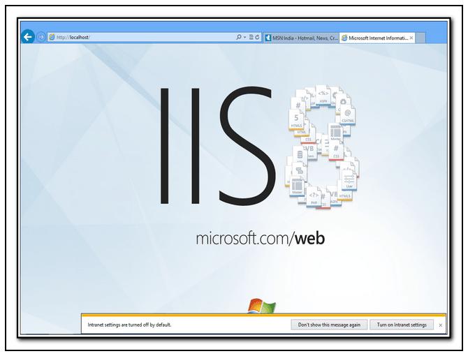 Habilitar o activar IIS o Internet Information Services en Windows 8