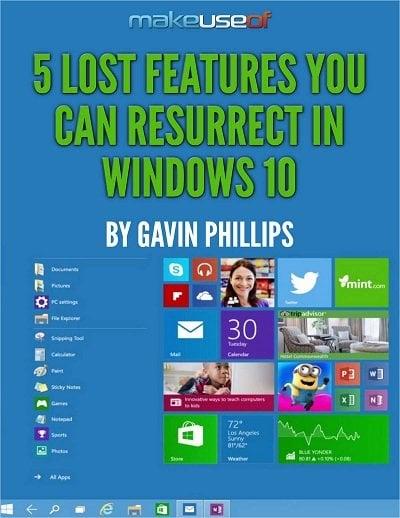 Las características perdidas de Windows 10 se pueden resucitar: Descargar Guía Gratuita