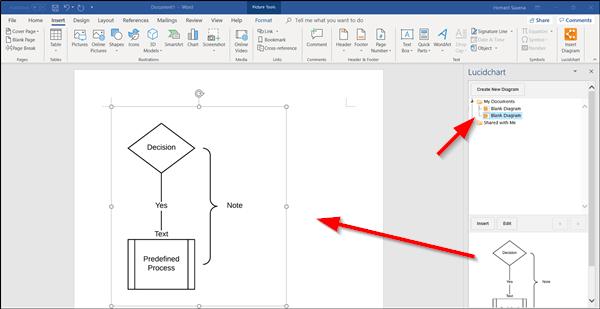 Crear un diagrama de flujo en Lucidchart e importarlo a Microsoft Word