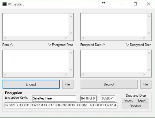 Cifrar archivos de texto, contraseñas, etc., usando MCrypter