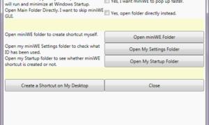 MiniWE: Una combinación de Quick Launch y Windows Explorer