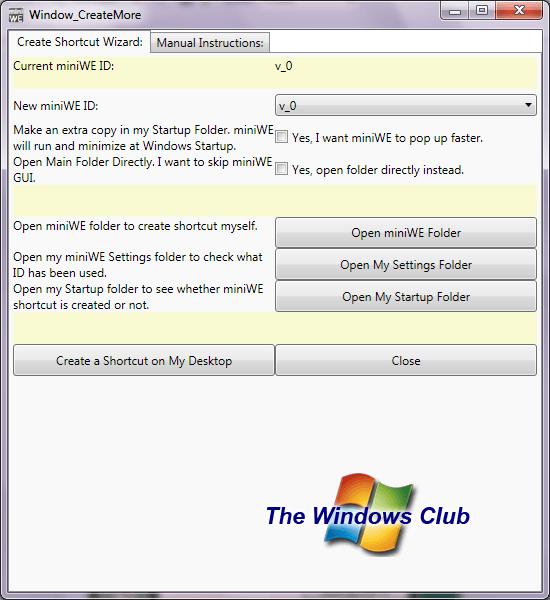 MiniWE: Una combinación de Quick Launch y Windows Explorer 2