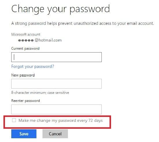 Configuración de privacidad de la cuenta de Microsoft Harden