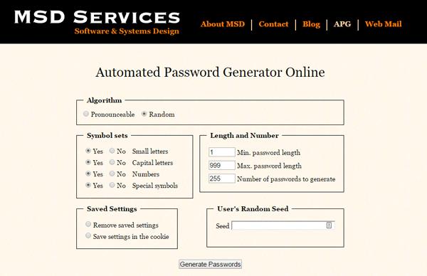 Generador de contraseñas en línea seguro y gratuito para crear contraseñas aleatorias 2