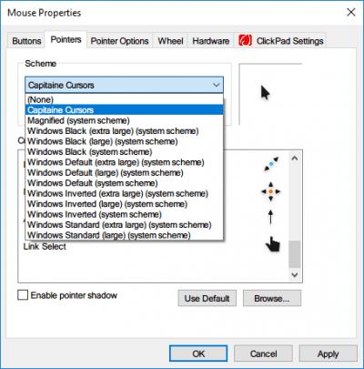 Cómo obtener el cursor y el puntero del ratón del Mac en Windows 10 2