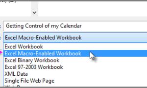 Cómo guardar el libro de trabajo de Calendar Insights con sus datos en Excel 2016