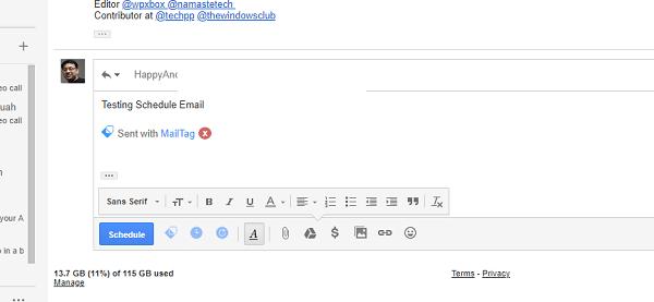 MailTag para Gmail ofrece seguimiento del correo electrónico, programación y seguimiento automático 1