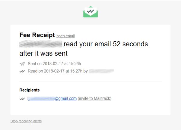 MailTrack es una sencilla herramienta de seguimiento de correo electrónico para Gmail