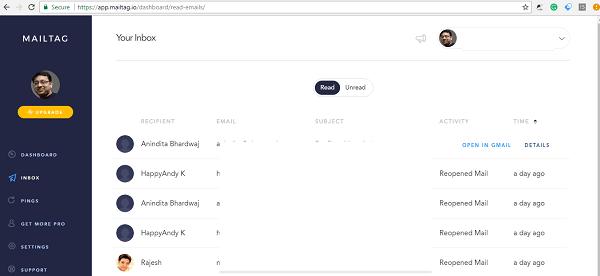 MailTag para Gmail ofrece seguimiento del correo electrónico, programación y seguimiento automático 2