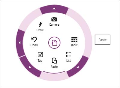 OneNote Windows Store App, obtiene Menú Radial, OCR, Escaneo de Cámara y más 3
