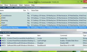 Comandante de Registro: Un avanzado Editor del Registro de Windows