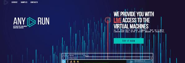Any.run es una herramienta interactiva de análisis de malware en línea 1