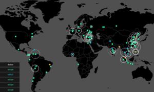 Mapas de seguimiento de malware que le permiten ver los ataques cibernéticos en tiempo real