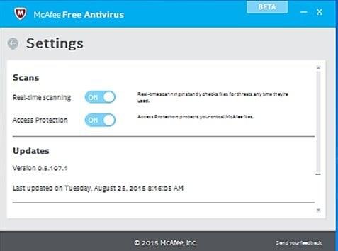 McAfee Free Antivirus para PC con Windows 3