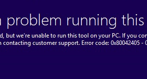 Código de error 0x80042405-0xA001A en Media Creation Tool