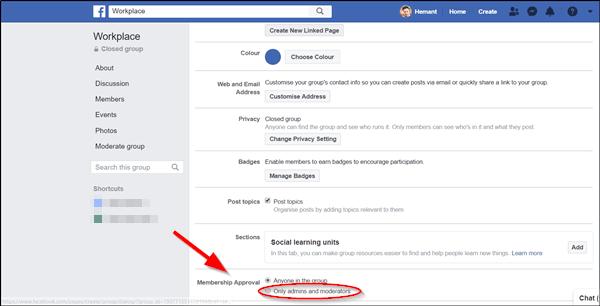 Cómo crear un grupo de Facebook en una página de negocios para una organización