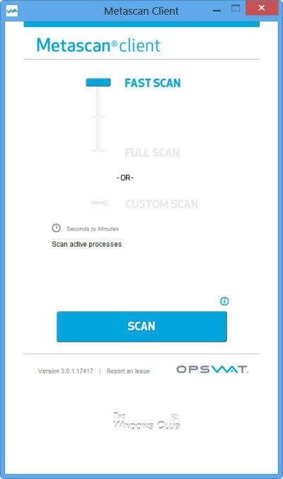 Cliente Metascan de Opswat: AntiVirus Scanner con múltiples motores para administradores de red