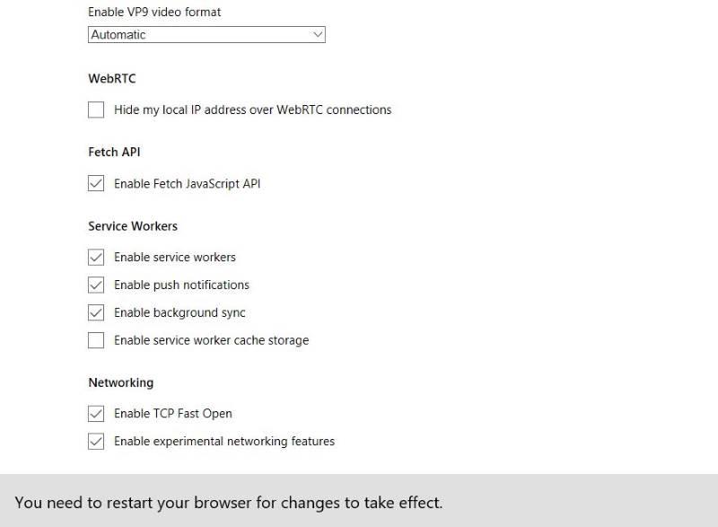 Cómo acceder y usar la página de Microsoft Edge about:flags en Windows 10