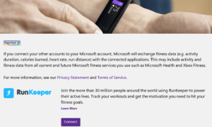 Comparte datos de tu Microsoft Band con las aplicaciones de Microsoft Health Connected