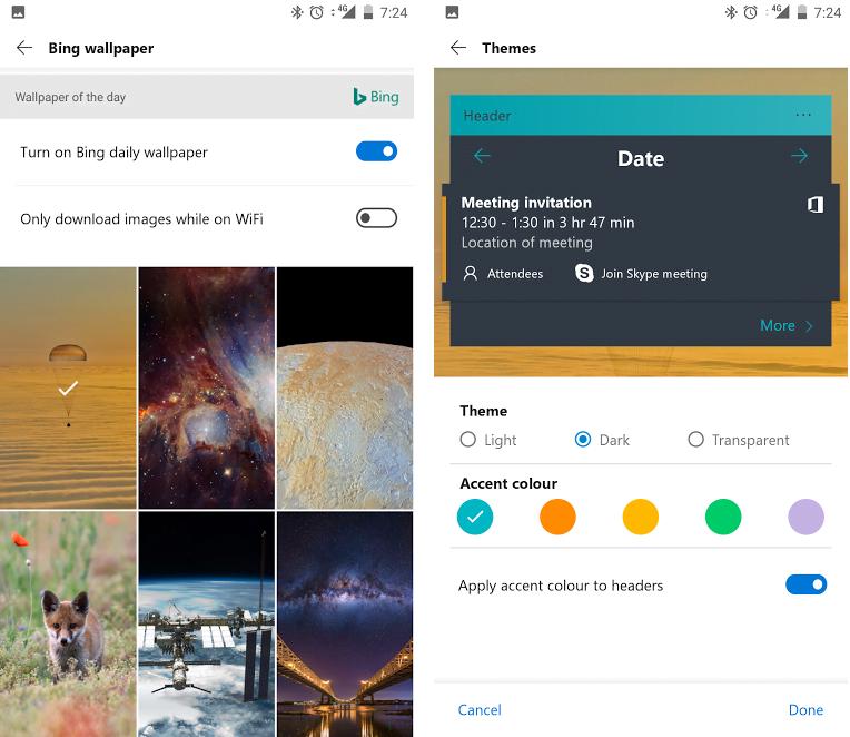 Microsoft Launcher para Android - Características y descargas 2